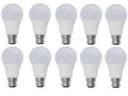 10x 12W (100W) Watt LED B22 Frosted Bayonet Cap GLS 6000k Cool White Light Bulbs